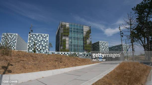 Exterior view of the International Criminal Court on July 20 2018 in The Hague Netherlands
