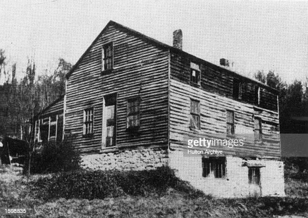Exterior view of the Jesse Grant residence and tannery childhood home Civil War general and US President Ulysses S Grant Point Pleasant Ohio late...