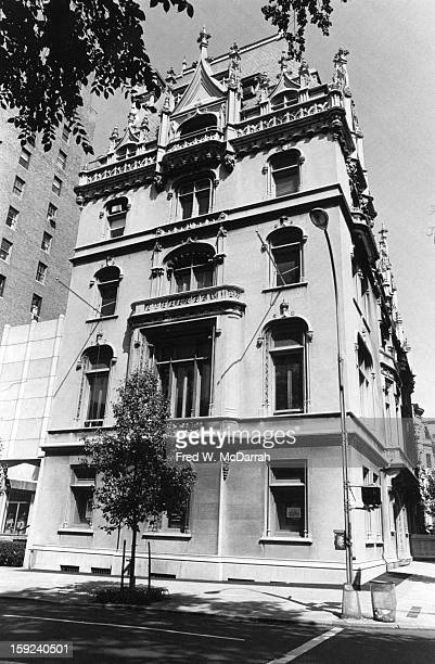 Exterior view of the Jewish Museum, New York, New York, July 4, 1982.