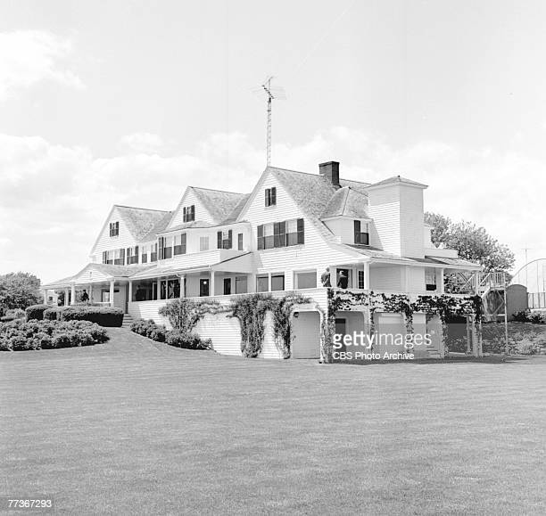 Exterior view of the Kennedy Compound home of the longstanding political family Hyannisport Massachusetts May 29 1964