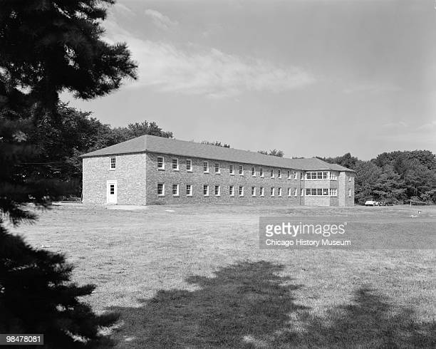Exterior view of the Lake Forest Academy dormitory Lake Forest IL 1948