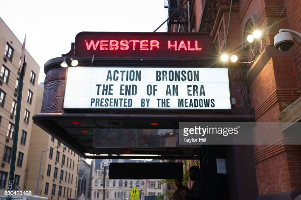 Exterior view of the last show at Webster Hall on August 10, 2017 in New York City.