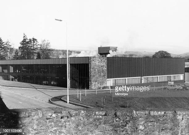Exterior view of the Laura Ashley textiles factory in Newtown Powys Wales 19th April 1978