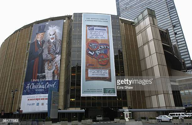 Exterior view of the Madison Square Garden, home of the New York Rangers taken on January 13, 2003 in the New York City, New York.