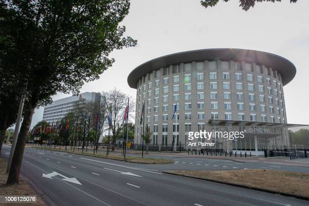 Exterior view of the main building of the Organisation for the Prohibition of Chemical Weapons on July 20 2018 in The Hague Netherlands