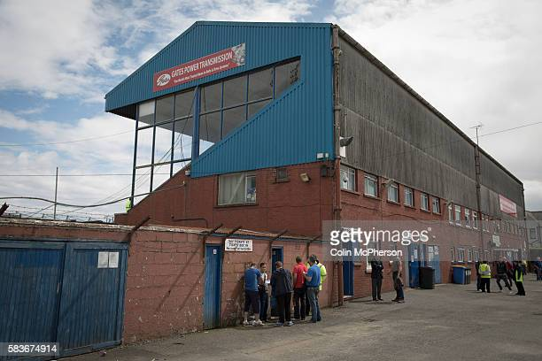 Exterior view of the main stand at Palmerston Park, Dumfries, before Queen of the South hosted Stranraer in a Scottish Challenge Cup first round...