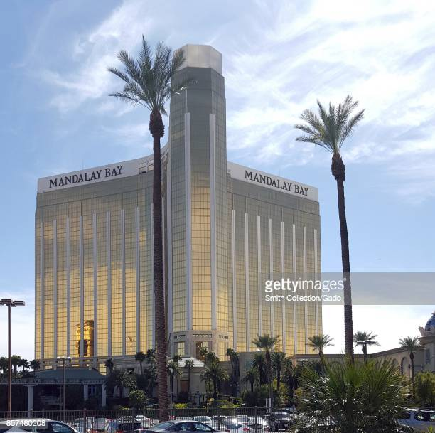 Exterior view of the Mandalay Bay Resort and Casino in Las Vegas Nevada 2016