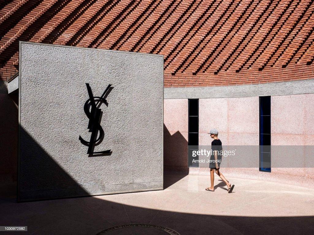 Yves Saint Laurent Museum In Marrakech : Illustration : News Photo
