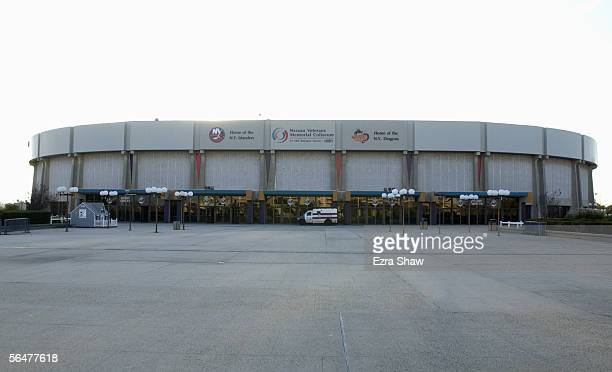 Exterior view of the Nassau Collisium, home of the New York Islanders taken on November 8, 2002 in Uniondale, New York