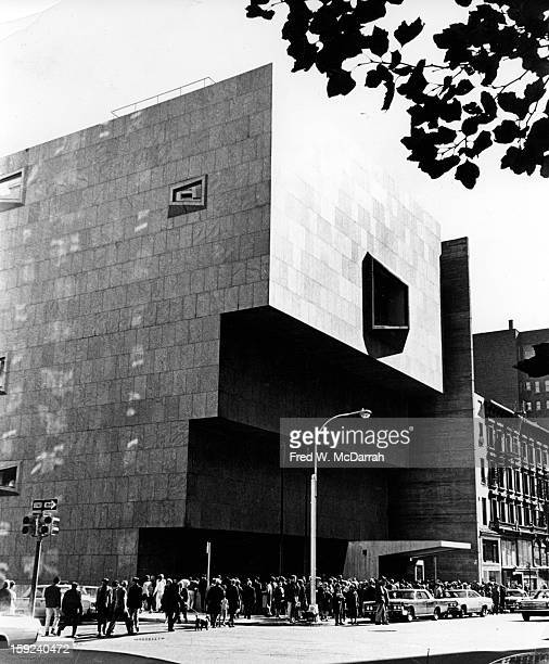 Exterior view of the new building of Whitney Museum of American Art New York New York September 27 1966 The building had opened the day before