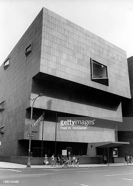 Exterior view of the new building of Whitney Museum of American Art New York New York July 29 1971