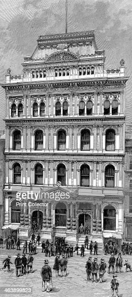 Exterior view of the New York Stock Exchange 1885
