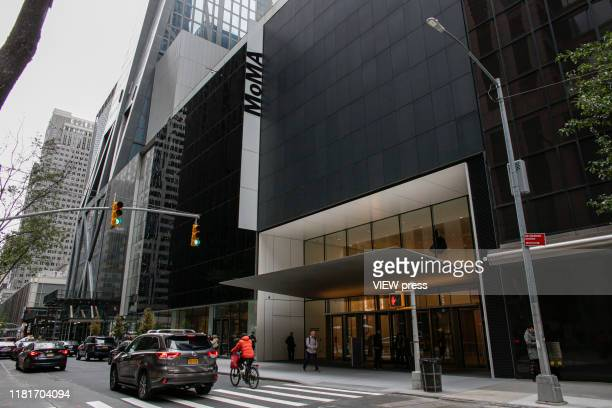 Exterior View of the newlyexpanded Museum of Modern Art on New York City on October 17 2019 The museum reopens to the public on Monday Oct 21 after...