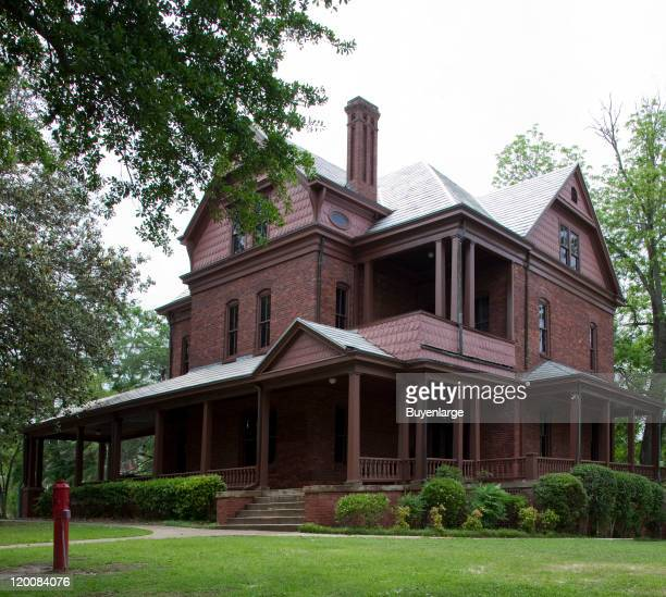 Exterior view of The Oaks home of Booker T Washington and his family Tuskegee Alabama 2010