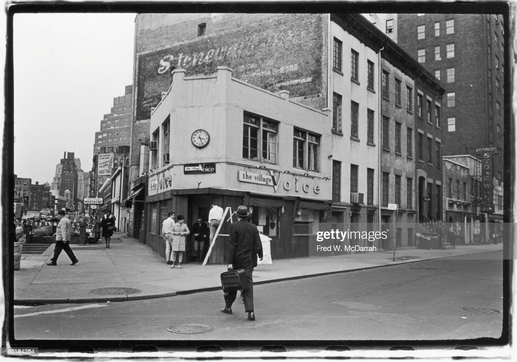 The Offices Of The Village Voice : News Photo
