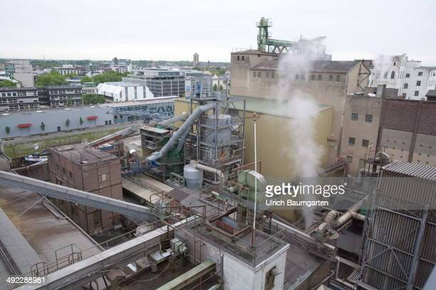 Exterior view of the oil mill C Thywissen in Neuss on May 15 2014 in Neuss Germany
