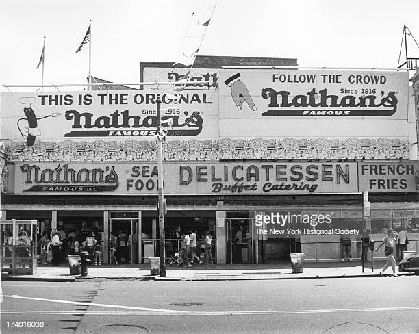 Exterior view of The Original Nathan's Famous Hot Dog Stand Coney Island New York New York New York 1986