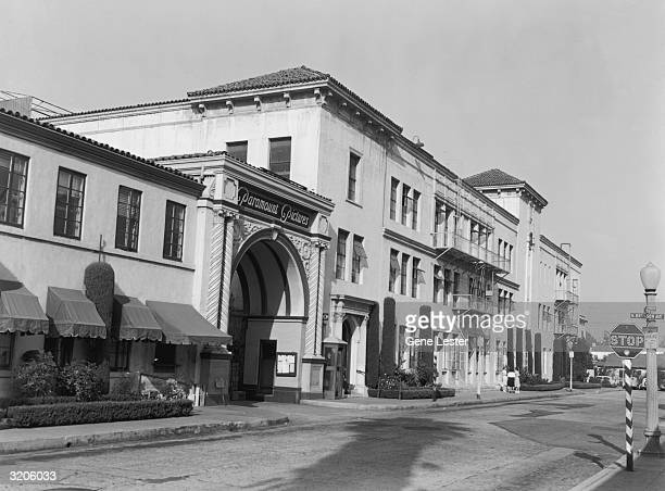 Exterior view of the Paramount Pictures studios in Los Angeles, California.