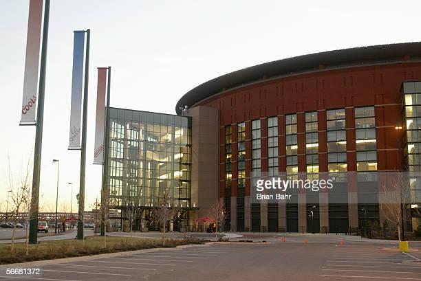 Exterior view of the Pepsi Center home of the Colorado Avalanche on November 21 in Denver Colorado