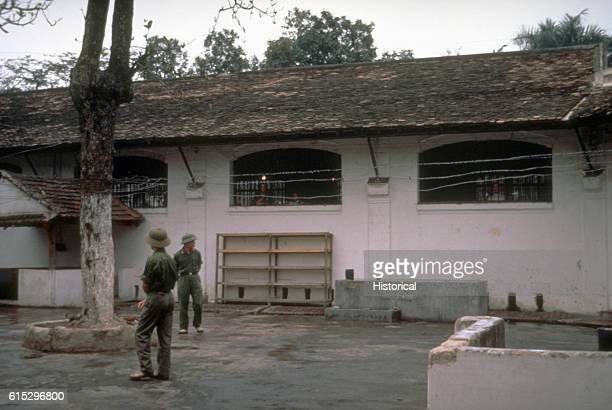 Exterior view of the prisoner of war camp in Vietnam in 1973