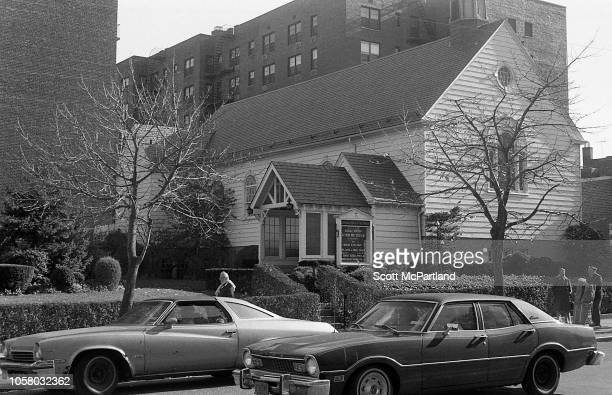 Exterior view of the Queen parish of Our Savior New York Lutheran church on 63rd Drive in the Rego Park neighborhood New York New York September 1980