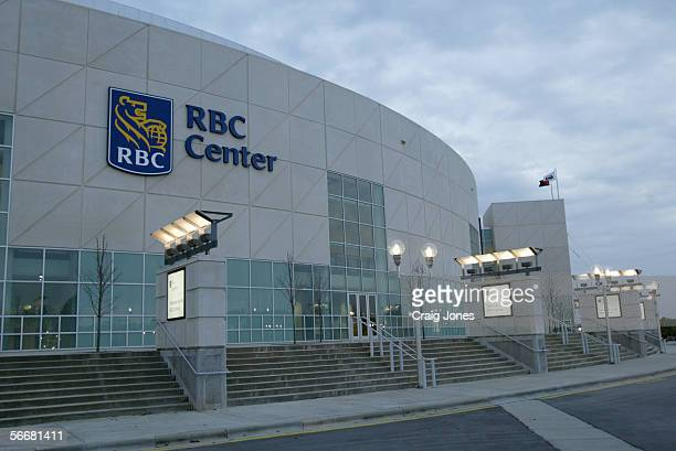 Exterior view of the RBC Center, home of the Carolina Hurricanes on October 9 in Raleigh, North Carolina.