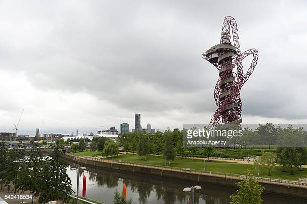 Exterior view of the Slide at the ArcelorMittal Orbit in London United Kingdom on June 23 2016
