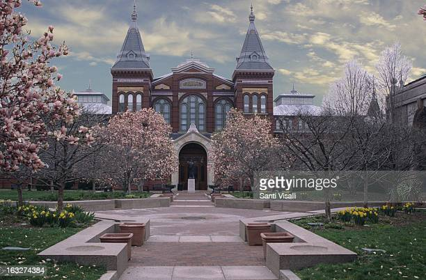 Exterior view of the Smithsonian Museum on April 6, 1996 in Washington, DC.