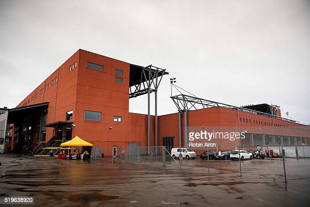 Exterior view of the stadium Boras Arena before the Allsvenskan match between IF Elfsborg and Hammarby IF at Boras Arena on May 7, 2016 in Boras,...