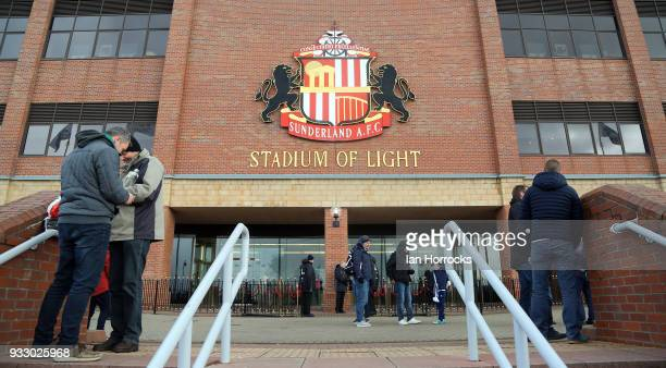 A exterior view of the Stadium of Light during the Sky Bet Championship match between Sunderland and Preston North End at Stadium of Light on March...