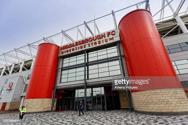 Exterior view of the stadium prior to the Sky Bet Championship match between Middlesbrough and Swansea City at the Riverside Stadium on September 22,...