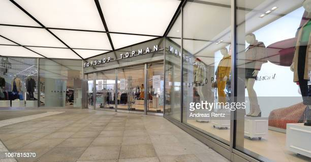 Exterior view of the Topshop Topman store opening on November 15 2018 in Duesseldorf Germany