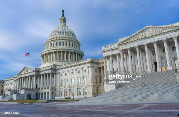 Exterior view of the US Capitol building Washington DC January 18 2017