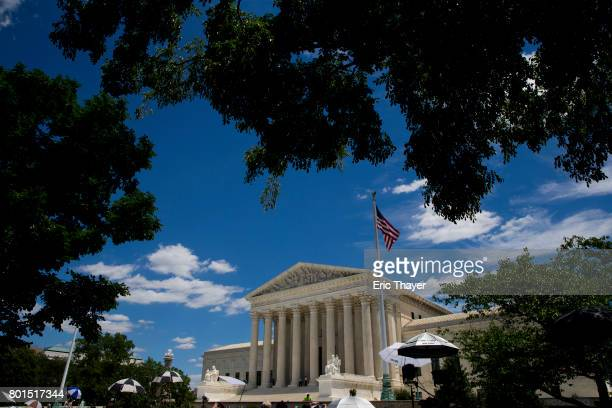 A exterior view of the US Supreme Court June 26 2017 in Washington DC