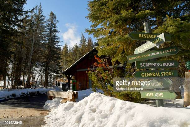 Exterior view of the venue for the 2020 Sundance Film Festival Directors Brunch at Sundance Resort on January 25 2020 in Provo Utah