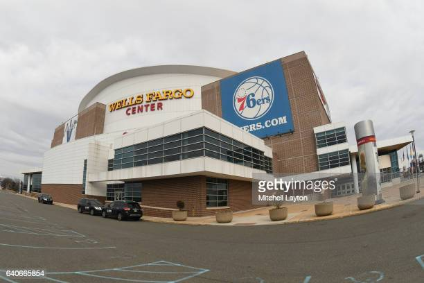 Exterior view of the Wells Fargo Center before a college basketball game between the Villanova Wildcats and the Virginia Cavaliers on January 29,...