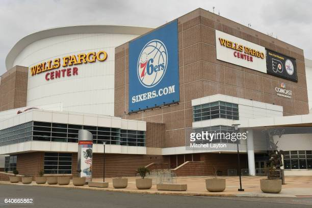 Exterior view of the Wells Fargo Center before a college basketball game between the Villanova Wildcats and the Virginia Cavaliers on January 29 2017...