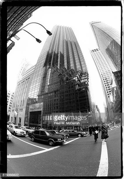 Exterior view of Trump Tower at the intersection of 5th Avenue and E 56th Street New York New York March 15 1988