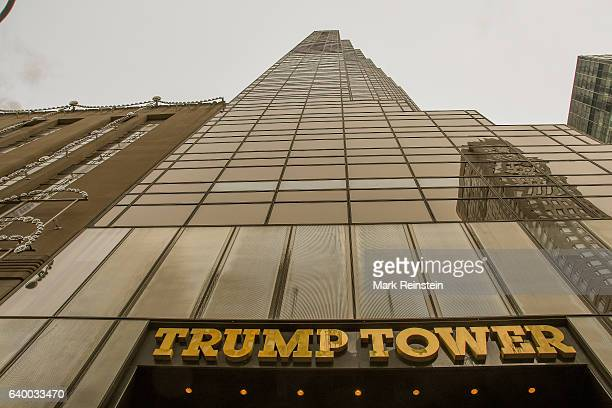 Exterior view of Trump Tower New York New York January 10 2017