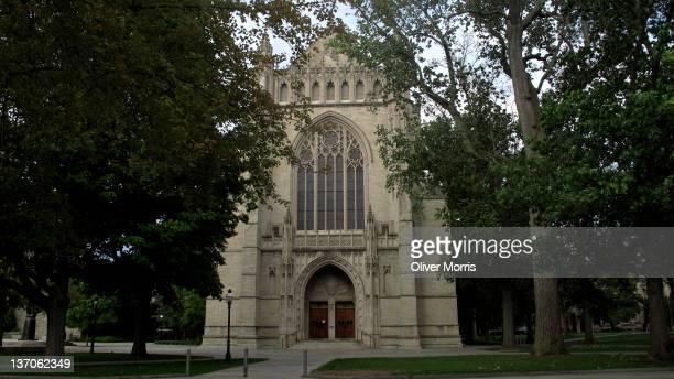 Exterior view of University Chapel on the Princeton University campus, Princeton, New Jersey, November 4, 2011.