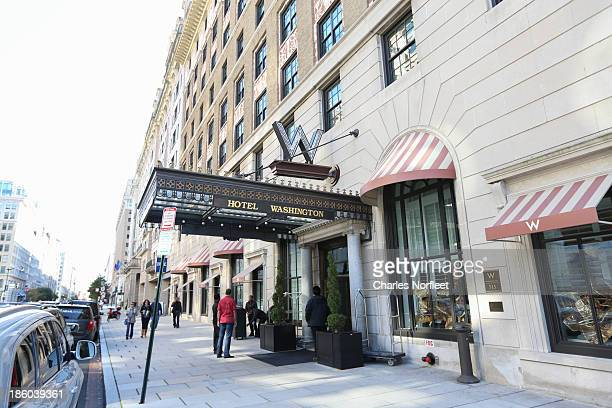 Exterior view of W Hotel on October 27 2013 in Washington DC Chris Brown was arrested at 430 this morning for felony assault after allegedly punching...