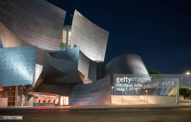 Exterior view of Walt Disney Concert Hall is seen on September 02, 2020 in Los Angeles, California.