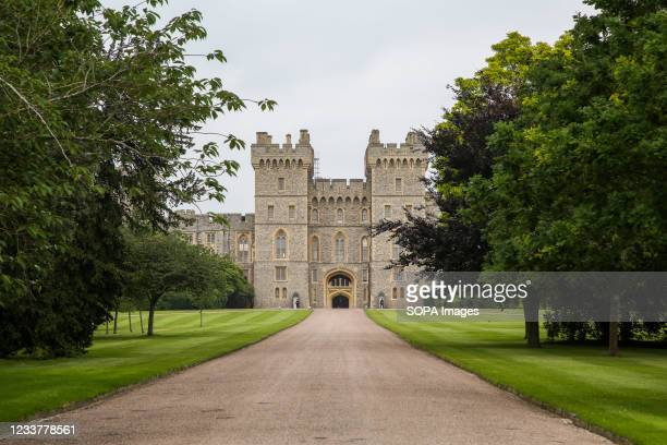 Exterior view of Windsor Castle the current residence of Queen Elizabeth II.