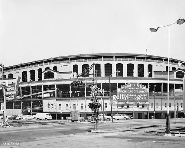 Exterior view of Wrigley Field located at Addison Street and Clark Street Chicago Illinois May 10 1961