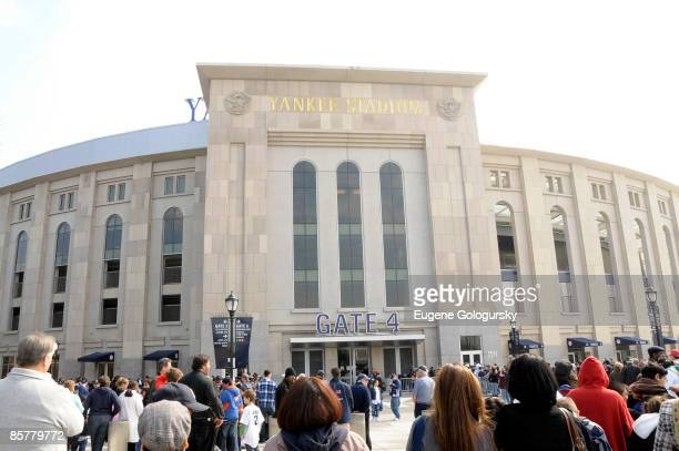 Exterior view of Yankee Stadium at the opening of the Hard Rock Cafe Yankee Stadium on April 2, 2009 in Bronx, New York.