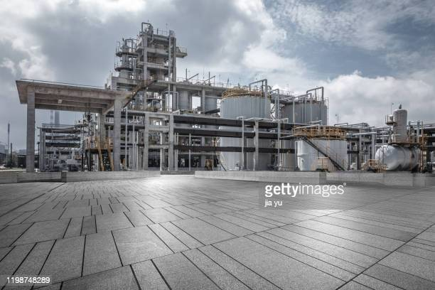 exterior view of zhanjiang iron and steel works, guangdong province. - 工場地帯 ストックフォトと画像