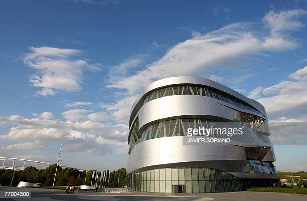 Exterior view taken 24 September 2007 shows the MercedesBenz Museum in Stuttgart which opened on 19 May 2006 and is built next to the DaimlerChrysler...