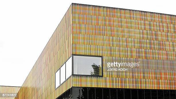 Exterior view taken on May 14 2009 shows a detail of the Museum Brandhorst in the southern German city of Munich that is set to open to the public on...