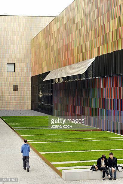 Exterior view taken on May 14 2009 shows people outside the Museum Brandhorst in the southern German city of Munich that is set to open to the public...