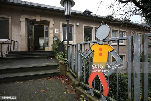 Exterior view taken on November 28 2017 shows the town hall of Altena western Germany where the mayor Andreas Hollstein gave a press conference after...